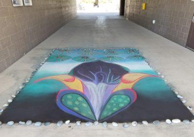 Sidewalk art at CNM West
