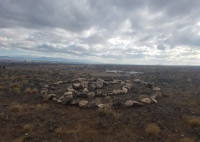Stone circle in the Petroglyph National Monument
